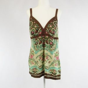 Nicole Miller brown cami blouse 12
